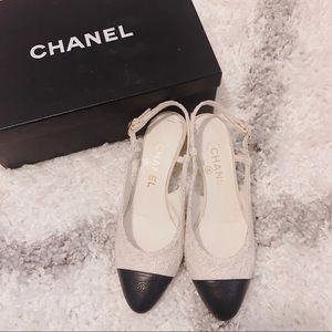Chanel Classic Slingback Sandals 37